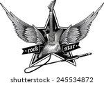 vector rock star emblem | Shutterstock .eps vector #245534872