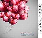 vector holiday illustration of... | Shutterstock .eps vector #245535802