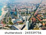 Aerial View Of Barcelona With...