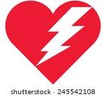 broken heart | Shutterstock .eps vector #245542108