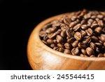 closeup of fragment of wooden... | Shutterstock . vector #245544415