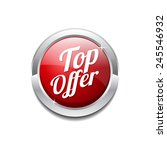 top offer red vector icon button | Shutterstock .eps vector #245546932