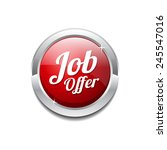 job offer red vector icon button | Shutterstock .eps vector #245547016
