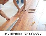 installing laminate flooring in ...   Shutterstock . vector #245547082