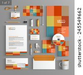 color corporate identity... | Shutterstock .eps vector #245549662