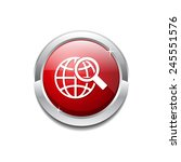 globe sign red vector icon... | Shutterstock .eps vector #245551576