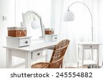 white dressing table with... | Shutterstock . vector #245554882