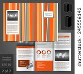 color brochure template design... | Shutterstock .eps vector #245556142