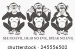the three wise monkeys | Shutterstock .eps vector #245556502