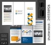 white brochure template design... | Shutterstock .eps vector #245558926