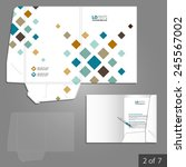 white folder template design... | Shutterstock .eps vector #245567002