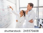 science student and lecturer... | Shutterstock . vector #245570608