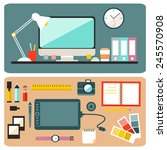big set of graphic designer... | Shutterstock .eps vector #245570908