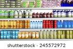 supermarket refrigerator with...   Shutterstock . vector #245572972