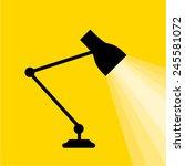 lamp light table icon | Shutterstock .eps vector #245581072