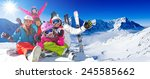 skiing  winter  snow  skiers ... | Shutterstock . vector #245585662