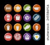 food icon set | Shutterstock .eps vector #245586916