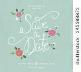 save the date typography.... | Shutterstock .eps vector #245588872