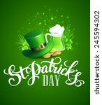 st. patrick's day greeting.... | Shutterstock .eps vector #245594302