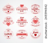 typography valentine's day... | Shutterstock .eps vector #245594542