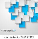 modern ui flat style... | Shutterstock . vector #245597122