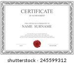 vector certificate template. | Shutterstock .eps vector #245599312