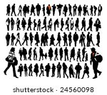 people  silhouettes | Shutterstock .eps vector #24560098