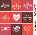 typographic valentine's label... | Shutterstock .eps vector #245604712