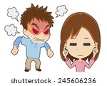 angry man  woman to ignore | Shutterstock .eps vector #245606236