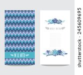 elegant card with decorative...   Shutterstock .eps vector #245609695