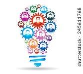teamwork concept   Shutterstock .eps vector #245611768