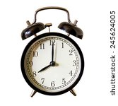 vintage alarm clock at 8 o... | Shutterstock . vector #245624005
