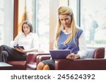 focused business colleagues... | Shutterstock . vector #245624392