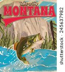Montana Vintage Poster...