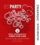 poster valentine's day party.... | Shutterstock .eps vector #245644462