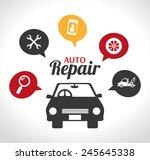 garage design over white... | Shutterstock .eps vector #245645338