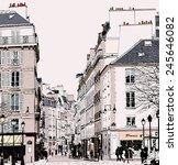 paris   street in saint germain ... | Shutterstock .eps vector #245646082