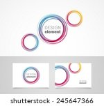 business card template and ... | Shutterstock .eps vector #245647366