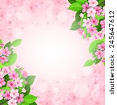 vector spring blossom...   Shutterstock .eps vector #245647612