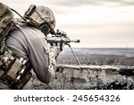 U.s. Army Sniper During The...