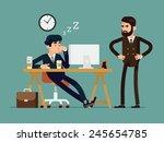 vector modern creative flat... | Shutterstock .eps vector #245654785