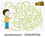 as the boy comes to his gifts | Shutterstock .eps vector #245655526