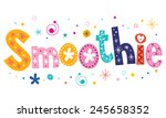 Smoothie Text Decorative...