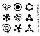 molecule icons set isolated on... | Shutterstock .eps vector #245659906