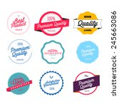 retro premium quality labels set | Shutterstock .eps vector #245663086