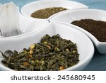 various types of tea.small... | Shutterstock . vector #245680945