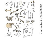 a set of 47 hand drawn arrows | Shutterstock .eps vector #245683336
