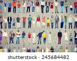 multiethnic casual people... | Shutterstock . vector #245684482