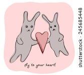 fly to youe heart   happy...   Shutterstock .eps vector #245685448