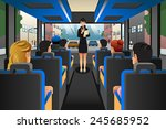 a vector illustration of tour... | Shutterstock .eps vector #245685952